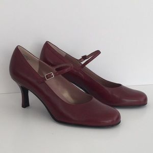 Enzo Angiolini Red Heel Adjustable Strap 7M